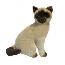 Siamese Plush Cat Sitting 20cm